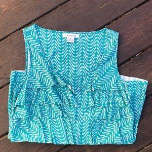 Liz Claiborne. Turquoise Sleeveless Tank Top.